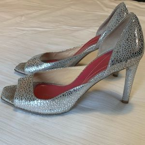 Kate Spade Silver Specked D'orsay Heels 6.5